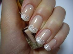 New take on a French manicure - beautiful! | See more at http://www.nailsss.com/colorful-nail-designs/2/ | nails | Pinterest (212215)