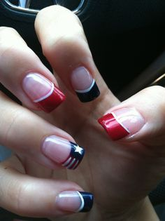 4th Of July nails French Mainicure red, white , blue. | Nails | Pinterest (212226)
