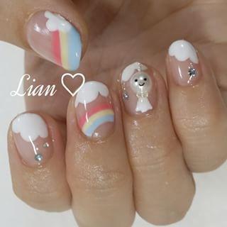 @nail_lian1310 - My nail♡大きなパールのてるてる坊主♡#nail #nailart... - Enjoygram (214444)
