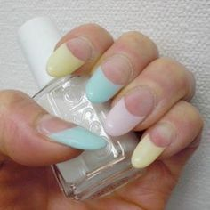 nail design - French sherbet color | Nails | Pinterest (222637)