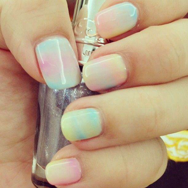Cotton candy clouds on your nails! | nail | Pinterest (222679)