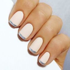 Mani Monday: White and Silver Valentine's Day French Mani Tutorial (222710)
