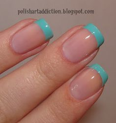 Turquoise French | Nails | Pinterest (222711)