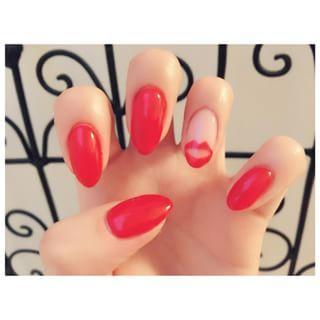 @miki5982 - ぽくないけどかわいい💋ヒマすぎてネイルかえたー!#ネイル#nail#red#赤#リップネ... - Pikore (242613)
