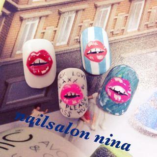 @nina_nail - #lip #lipnail #nailpics #nailart #gelnail #nail... - Pikore (242616)