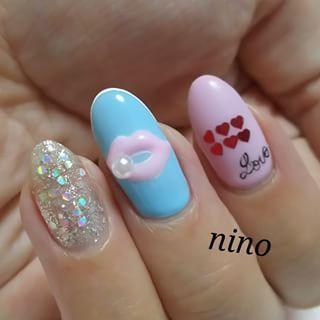 @nino_nail - #nails #nailart #nail #sweet #cute #pink... - Pikore (242633)