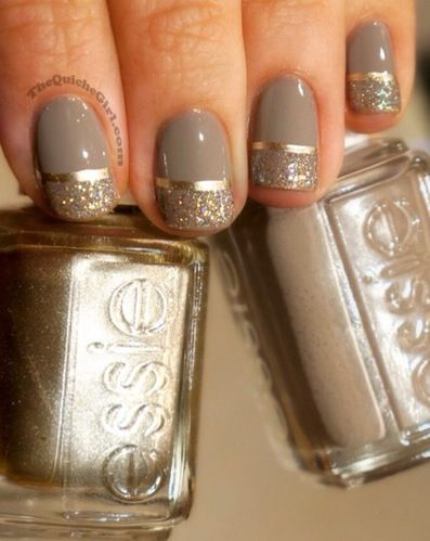 Awesome grey nails/ silver instead of gold | nail | Pinterest (250164)