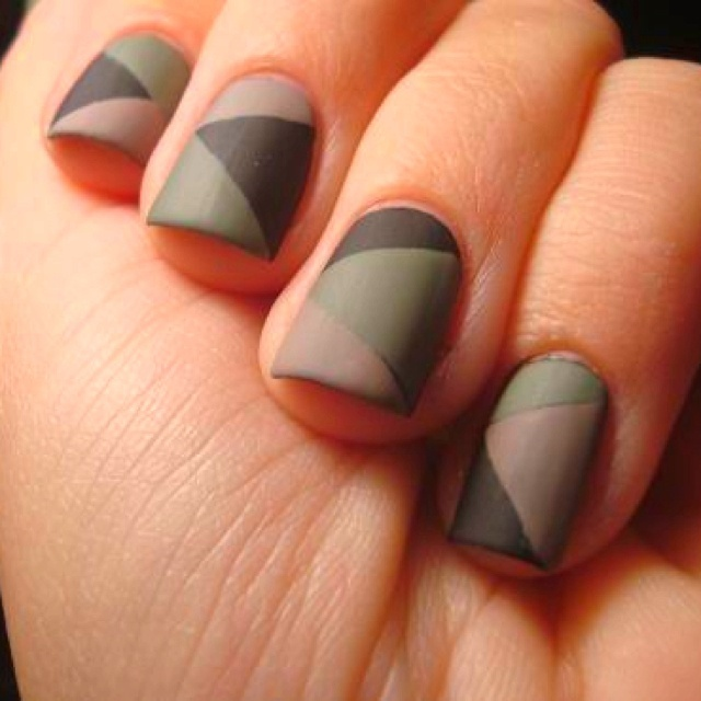 Matte camouflage nails :) | Stay Calm, Paint Your Nails | Pinterest (250517)
