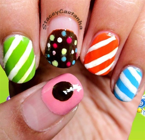 Candy Crush Nails!! :)  - Nail Art Gallery (250929)