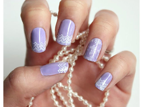 Lace nail art | We Heart It (251325)