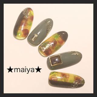 @maiya.nail - ☆カモフラアンバーネイル☆【使用カラー】VETRO... - Pikore (252942)
