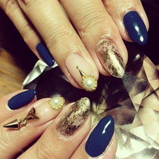 @usuirei - ちょっこしハードなネイルにチェンジϵ( 'Θ' )϶#nail #nails... - Pikore (253064)