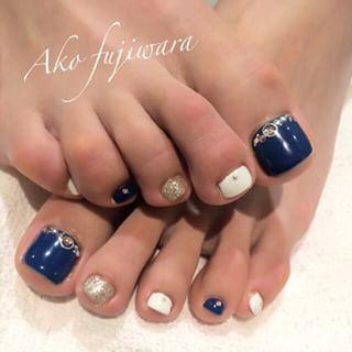 @akofujiwra - お客様nail#moca高槻#mocafujiwara#nail#nails#nailde... - Pikore (253091)