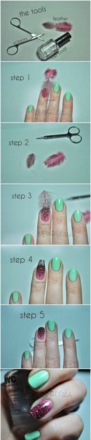 DIY Feathered Nails Pictures, Photos, and Images for Facebook, Tumblr, Pinterest, and Twitter (257770)