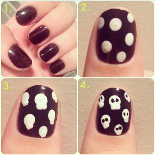 4 Best Easy & Charming DIY Halloween Nail Art Design Tutorials - StyleGlow.com (281345)