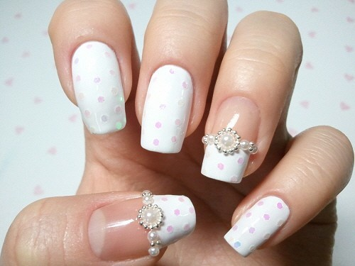 Bridal Nail Designs ♥ | We Heart It (284985)