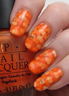 Pond Pumpkins Halloween Nail Art! (285615)
