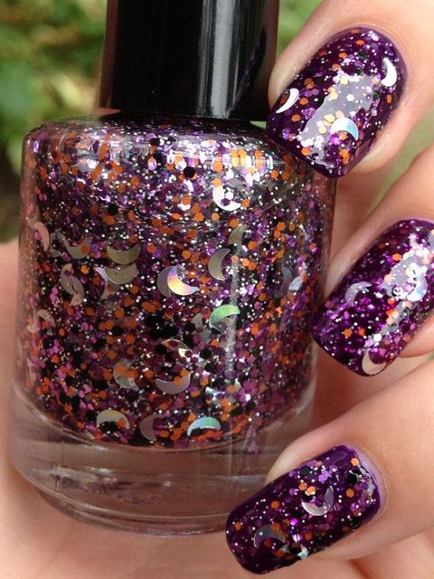 Sleepy Hollow-Glitter Topper Indie Halloween Nail Polish (285621)