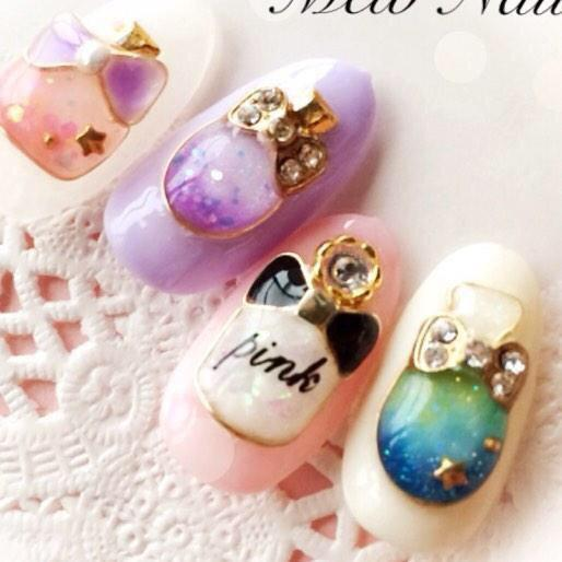 cute_cute_nail2 : 香水瓶ネイル♡可愛い♡ http://t.co/h5Kx1ECKSC   Twicsy - Twitter Picture Discovery (286245)