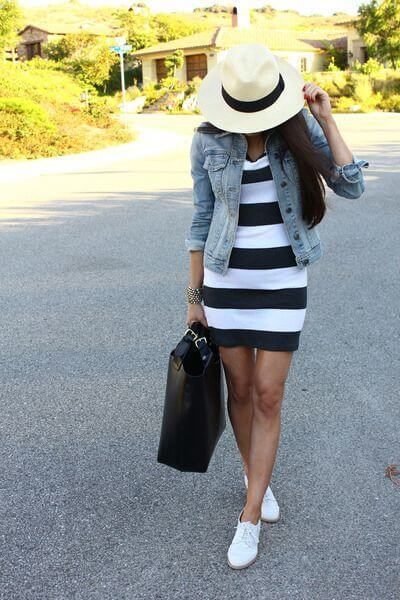 20 Hot Black and White Stripe Dresses For This Summer | We Heart It (287684)