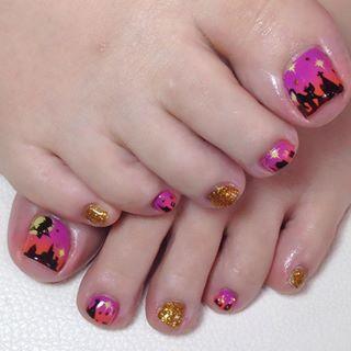 @miyuki0810 - ハロウィンフット♡#nail#nailsalon#gel#gelnail#art#nailar... - Pikore (288323)