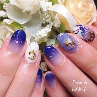 @salon_de_waka - ハロウィンがかわゆーてしょうがない。#nail#nails#nailist#nailsal... - Pikore (288334)