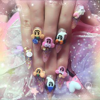 @akoakonail - ディズニーハロウィンネイル♡お客様のお持ちの画像を参考にしました💖#nail#ディズニー... - Pikore (289766)