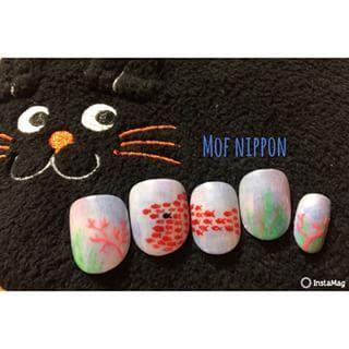 @mof_nippon - 作ってみたかったスイミー🐟♡夏らしくてオススメです♡#nail#nails#art#ar... - Pikore (292071)