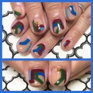 @atelierjewelz - Autumn Geometric Nail💅✨ #atelierjewelz #nail... - Pikore (292099)