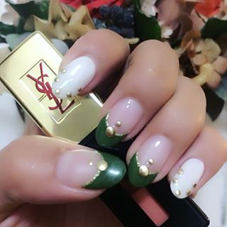 @ri1229sa - #nail #nailart #naildesign #カーキ #カーキネイル #秋ネイル... - Pikore (292864)