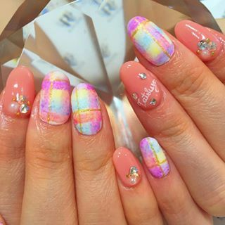 @ravinail - ブランケットネイル✨#gel#gelnail#nails#newnails#nail#na... - Pikore (292944)