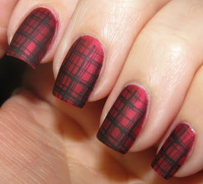 Matte plaid nails | nails | Pinterest (298906)