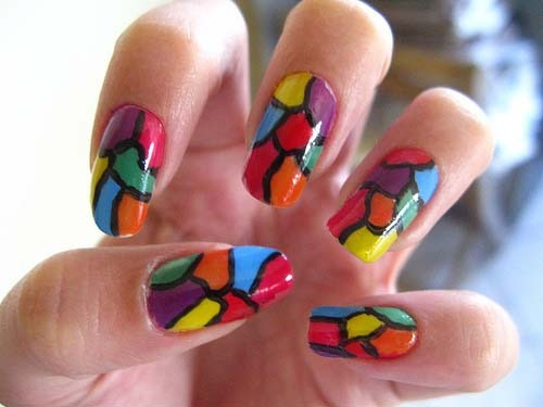 9 Best Stained Glass Nail Art Designs | Styles At Life (302829)