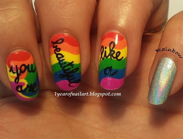 You are beautiful like a rainbow - Nail Art Gallery (312210)