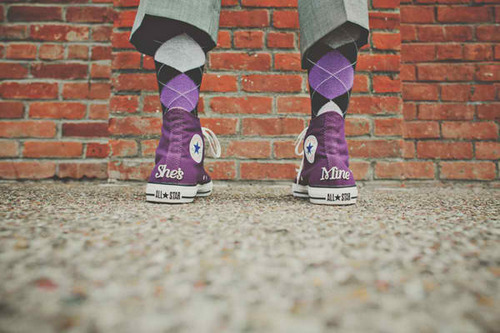 argyle, converse, and groom by Sam | We Heart It (317938)