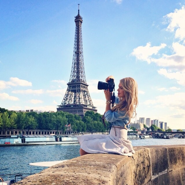 Group of: #Eiffeltower #girl #nice #sky #bluesky #camera #Paris  | We Heart It (319111)
