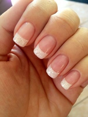 Totally cute sparkley french manicure. When in doubt... add sparkles | nail | Pinterest | Glitter French Manicure, French Manicures and White Glitter (321939)