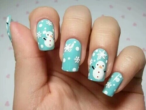 christmas, cute, nails - inspiring picture on Favim.com by Emelyne | We Heart It (324395)