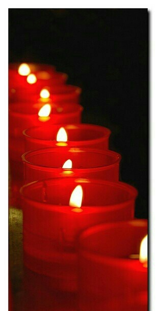 Red Candles by lala_p | We Heart It (330756)