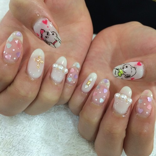nail, nail art, and snoopy by ._. ♡ | We Heart It (331191)