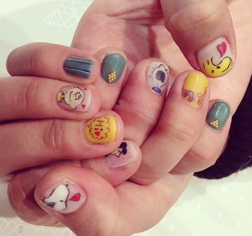 snoopy nail by yuiko   We Heart It (331192)