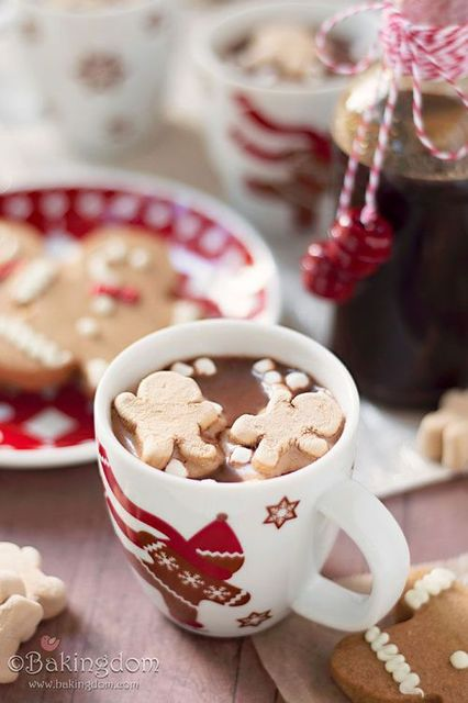 """Gingerbread Hot Cocoa Recipe"" .... with homemade gingerbread syrup !:  by By Szarin 