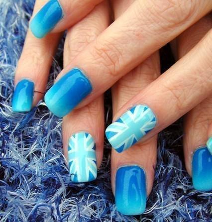 Blue Nail Art by Purple Passion | We Heart It (339282)