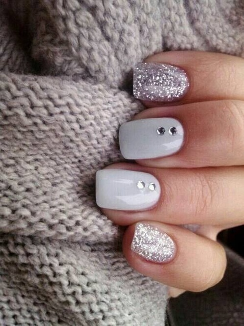 Nails beauty, glittering,  rhinestone decorated, Wholesale7 by Bianca Morarou | We Heart It (339563)