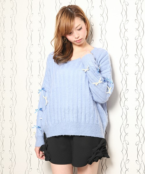 HoneySalon by foppish,◇リボンニットTOPS-WEAR (344434)
