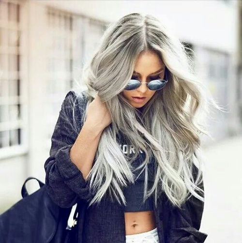 Silver Gray Hair by Dyhair777 | We Heart It (354475)