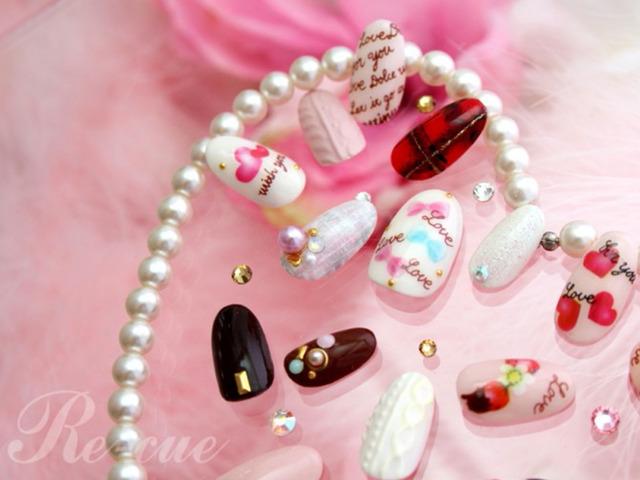 チョコレートカラーで楽しむ大人女子のためのバレンタインネイル|松本壽美代 【AUTHORs】 (363340)