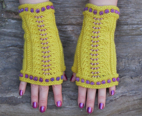 Fingerless gloves, Yellow knit wrist warmers, Warm gift for girl friend, Love you more elegant beaded wraps by Echocraftings OÜ | We Heart It (365019)