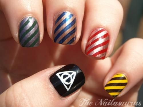 Creative Harry Potter Inspired Nail Art [10 Pics] (366866)