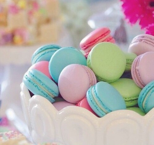 Little cute kawaii pastel macarons♥ heaven by Hayley | We Heart It (367530)